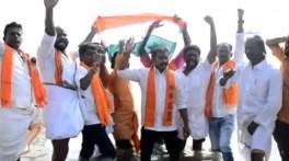கச்சதீவுக்காக கடலில் இறங்கிய சிவசேனா கட்சி