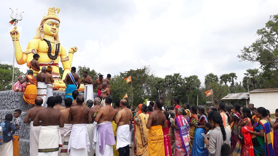 மாங்குளத்தில் ஆதிசிவன் சிலை, தமிழில் திருக்குடமுழுக்கு..