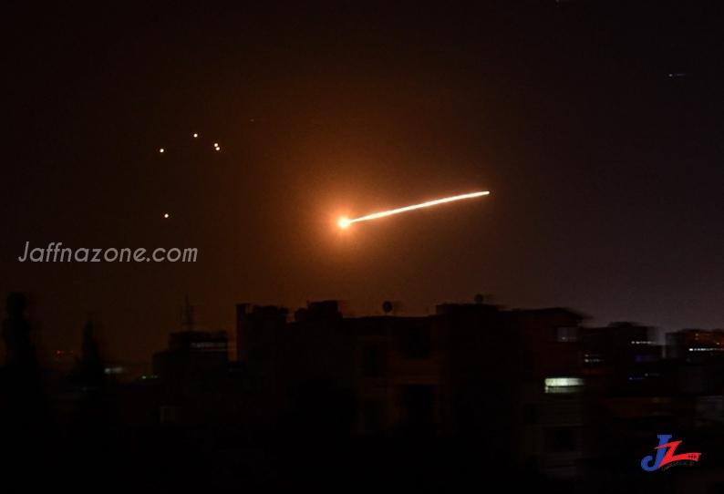 சிரியா மீது இஸ்ரேல் வான்வெளி தாக்குதல்!! -11 பேர் பலி-
